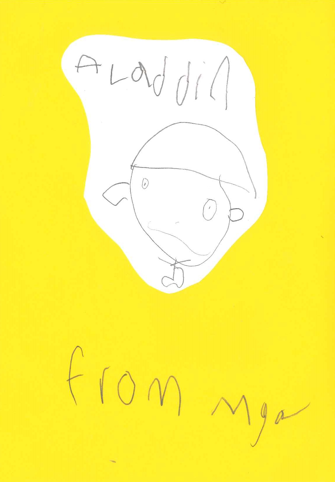 Yellow Thank You Card Aladdin