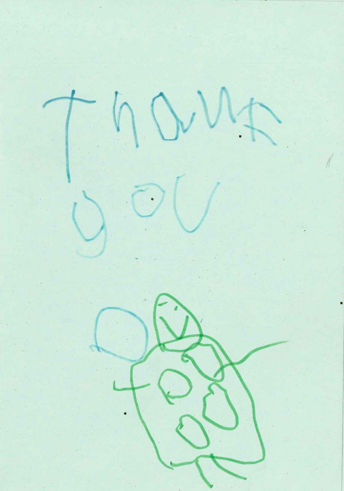 Buttons Thank you Card Cinderella