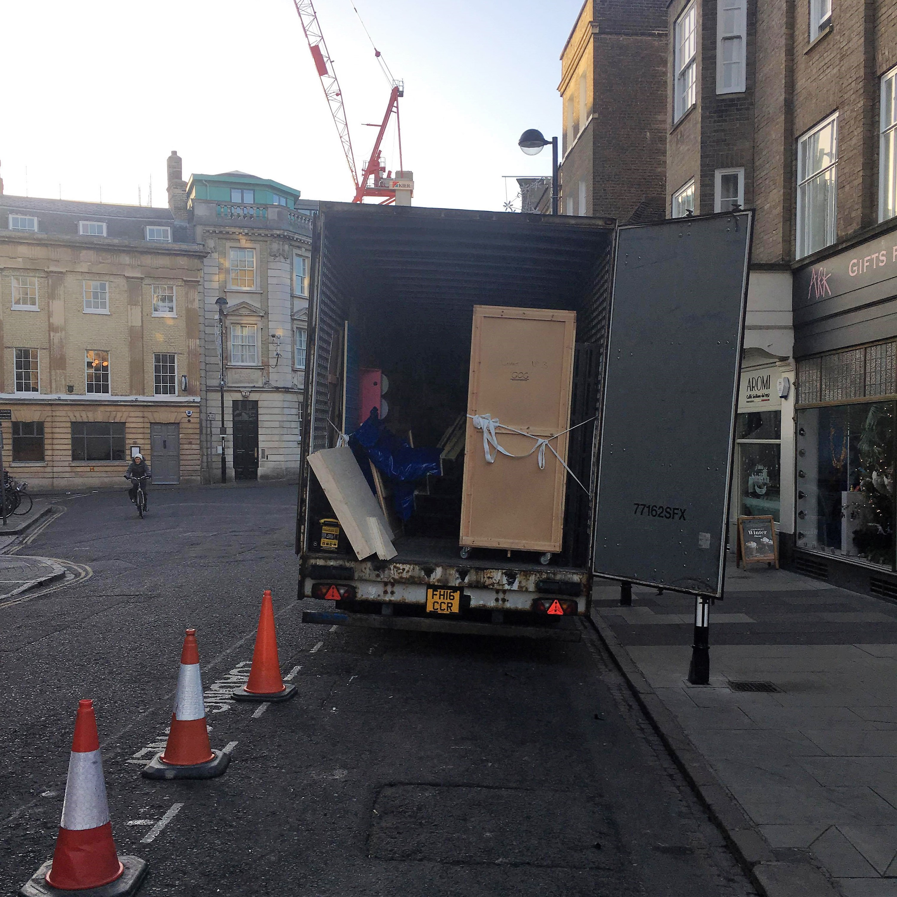 A lorry filled with pantomime props