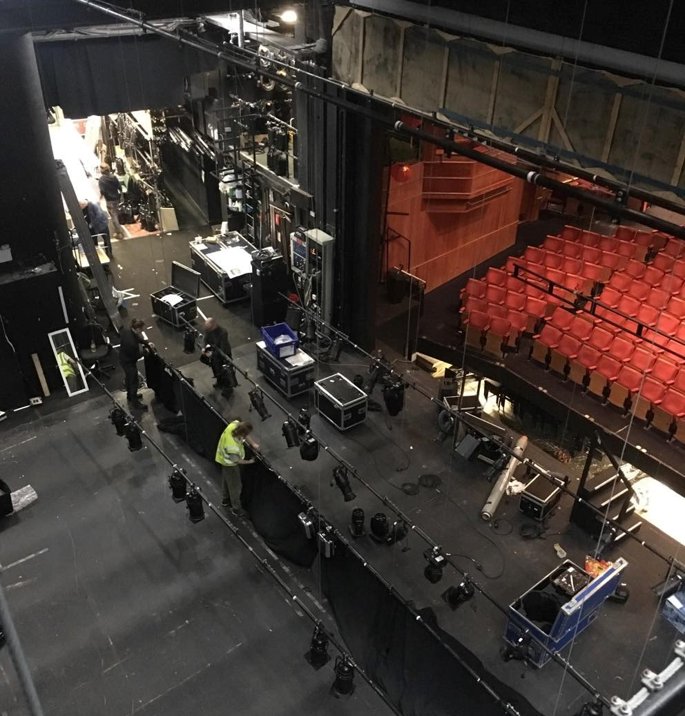 Bird's eye view of stage