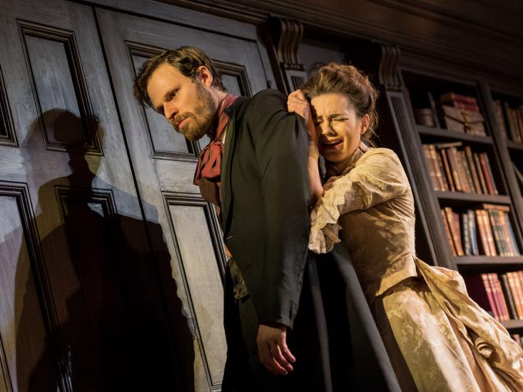 Kara Tointon and Rupert Young in Gaslight