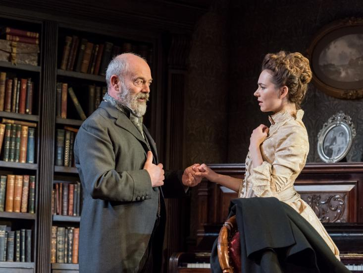 Kara Tointon and Keith Allen in Gaslight