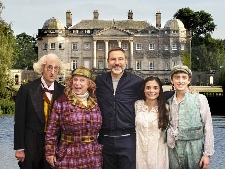 David Walliams with the cast