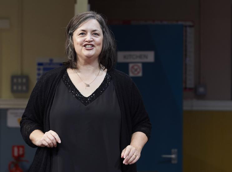 Ruth Jones talks
