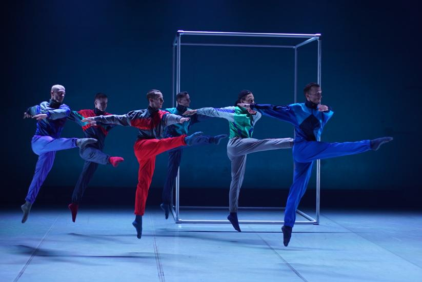 A group of male ballet dancers