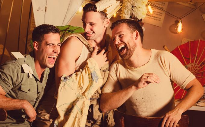 The Mikado: 3 men laughing