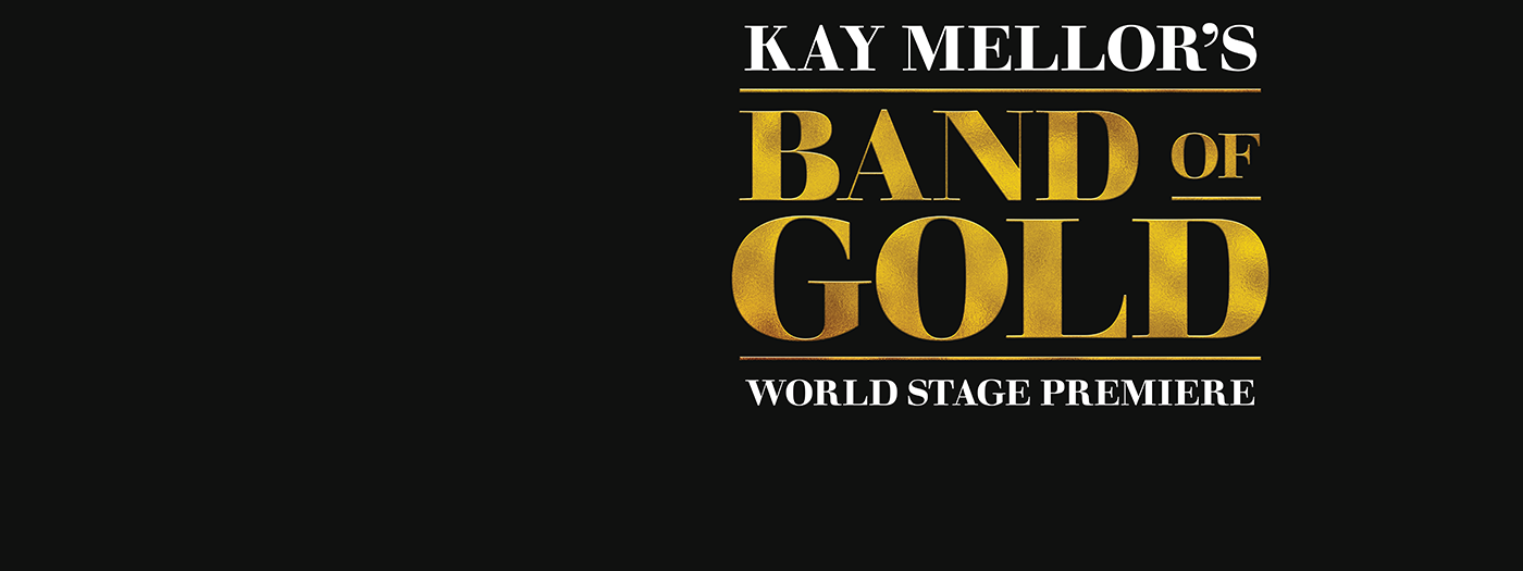 Band of Gold title treatment - gold lettering.