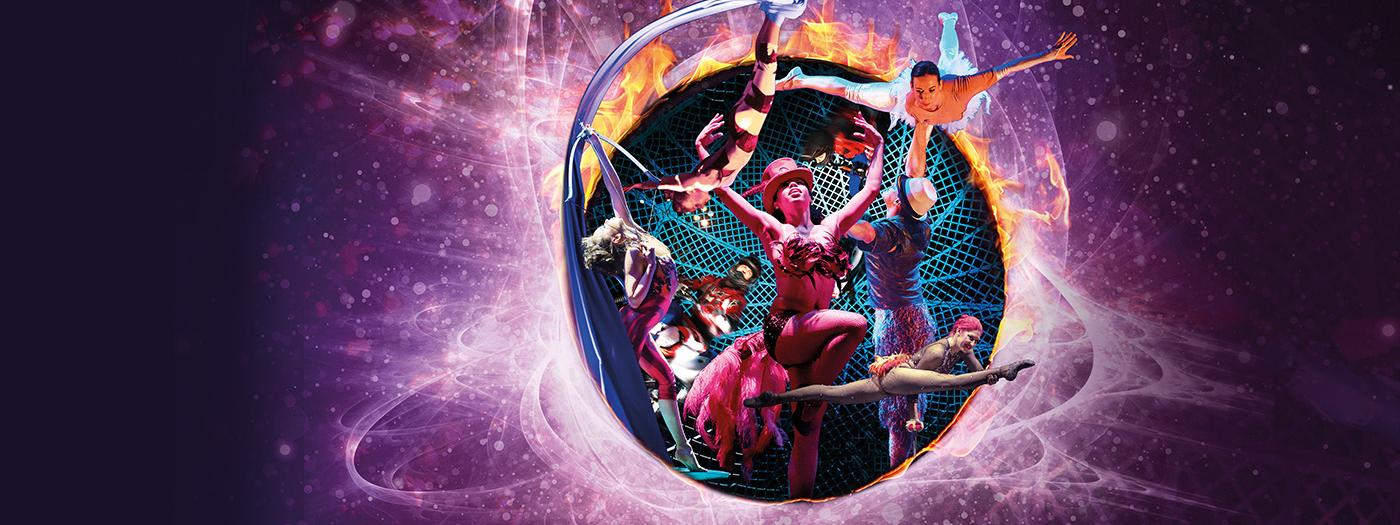 Circus image in a globe